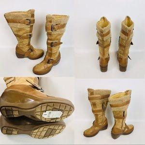 Report Faux Fur/Suede Camel Reagan Boots Size 9